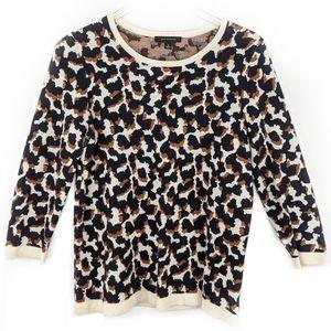 Ann Taylor Giraffe Print 3/4 Sleeve Top